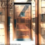 craftsman panel door with glass