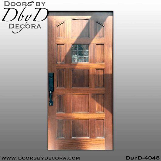 craftsman panel door with glass
