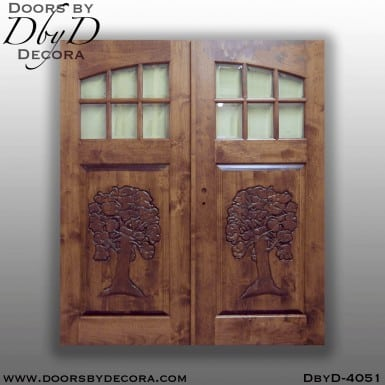 craftsman custom carved door