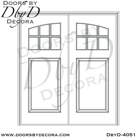 dbyd4051b - craftsman custom carved door - Doors by Decora