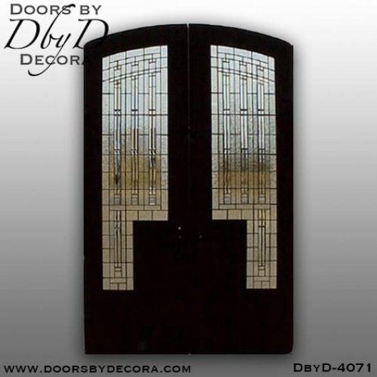 craftsman segment door with glass
