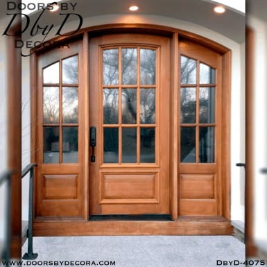 craftsman door and large side lites