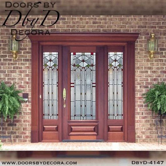 craftsman door and side lites with glass