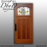 craftsman door with art glass
