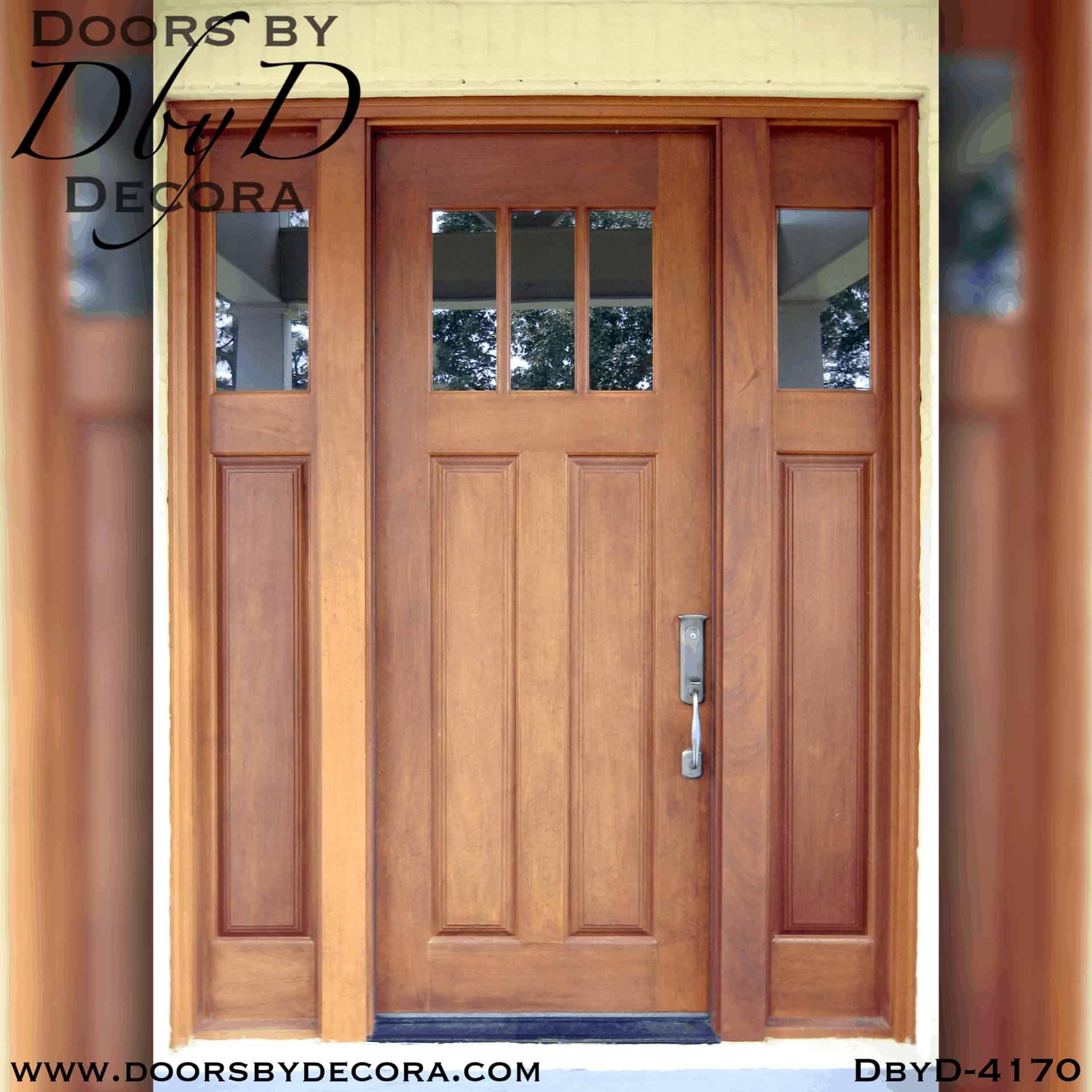 Custom Craftsman Three Lite Door And Glass Entry Doors By Decora