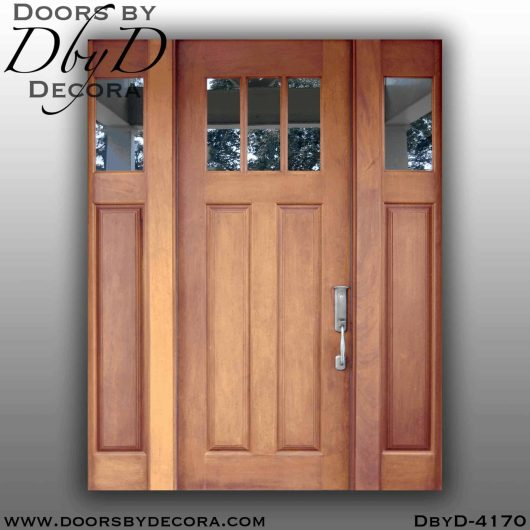 craftsman three lite door and glass