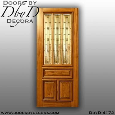 craftsman 3-lite leaded glass door