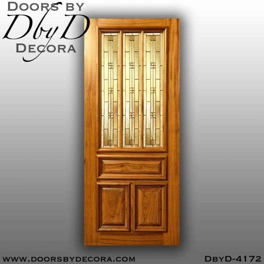 craftsman 3-lite leaded glass door