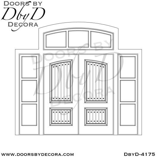 craftsman custom double doors