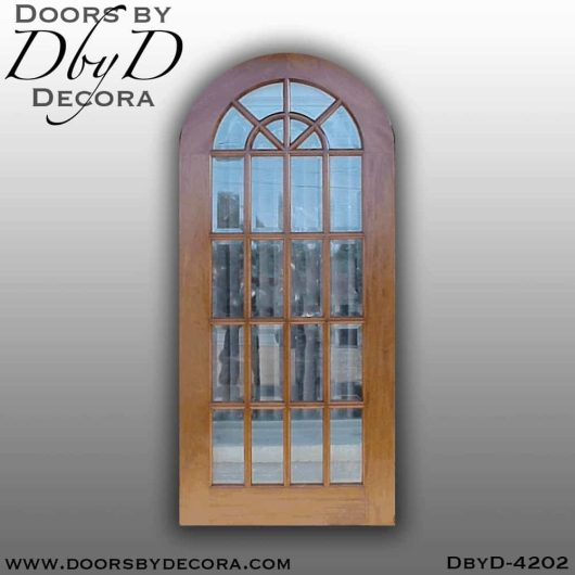 craftsman radius top door with glass