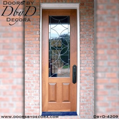 craftsman 1-lite leaded glass door