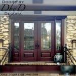 craftsman double doors with glass