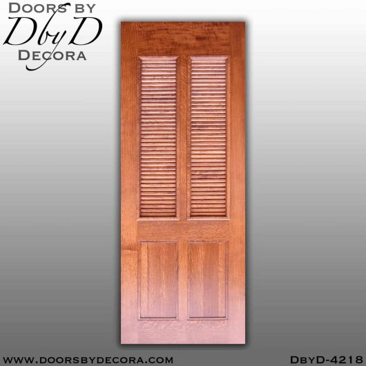 craftsman custom louvered door