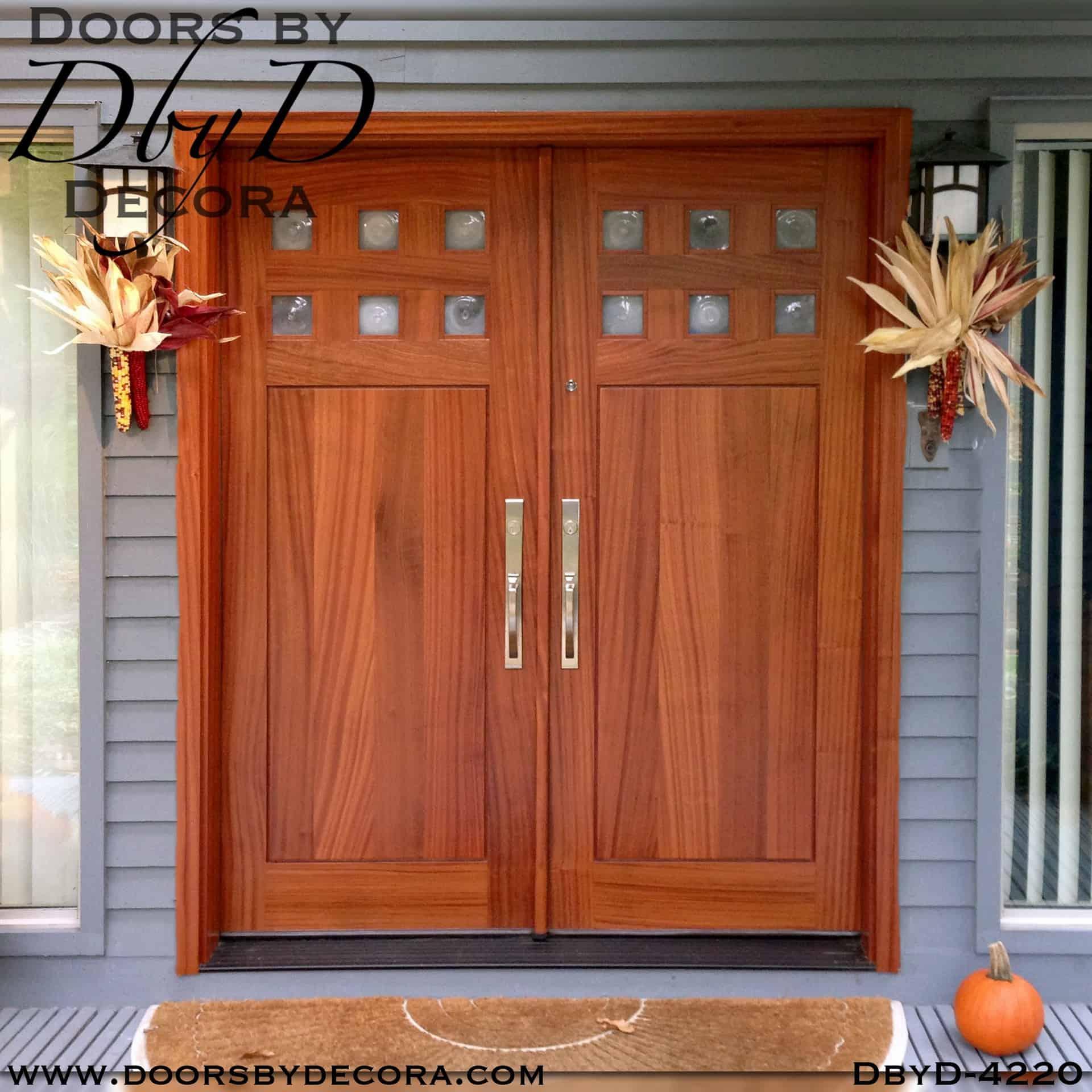 Custom Craftsman Custom Double Doors Wood Entry Doors By Decora