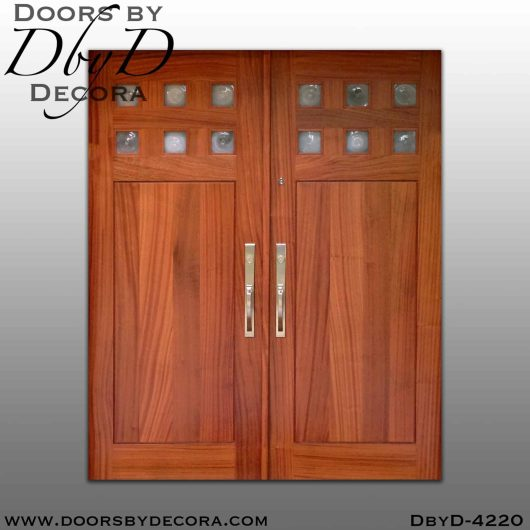 craftsman double shaker style doors