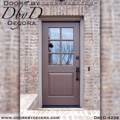 craftsman six lite custom door