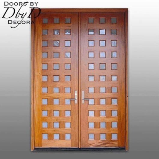 A pair of multi-lite double doors.
