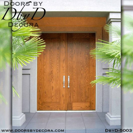 contemporary single panel doors