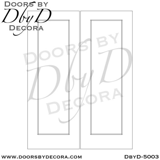 contemporary single panel doors