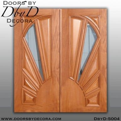 contemporary sunburst panel doors