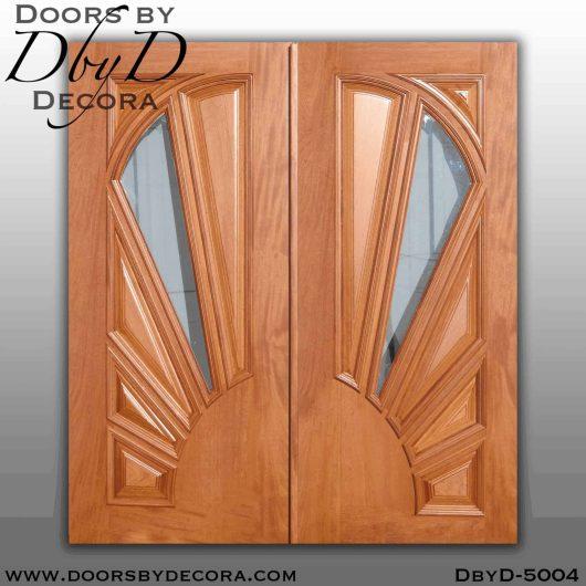 contemporary sunburst panel doors