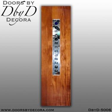 contemporary one lite flush door