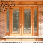 contemporary double doors and side lites