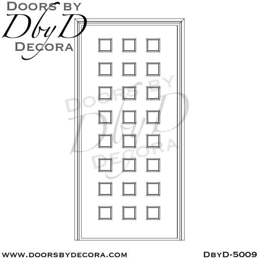 contemporary multiple lite door