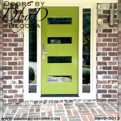 contemporary 4 horizontal lite door
