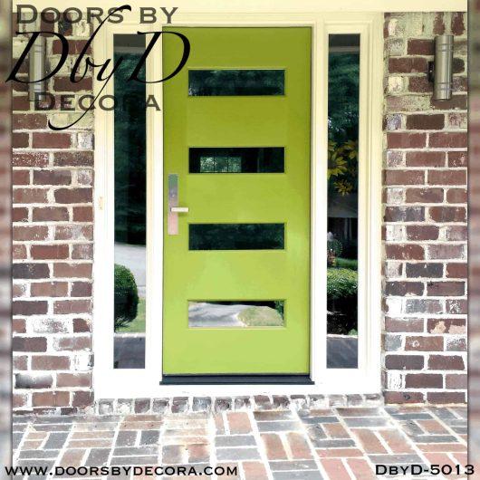 contemporary 4 horizontal lite door