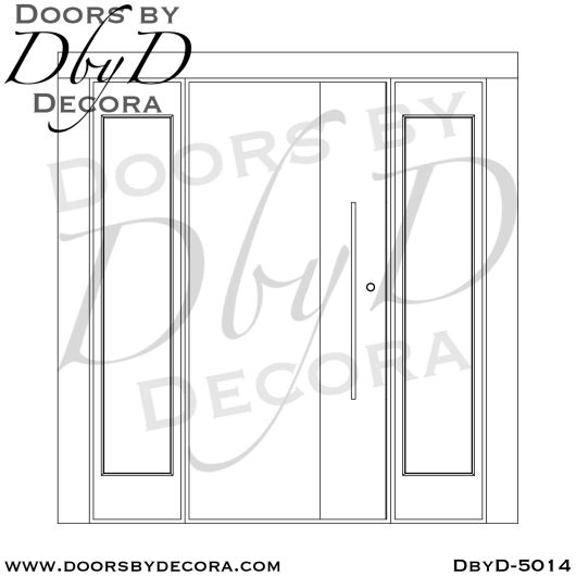 contemporary solid flush door