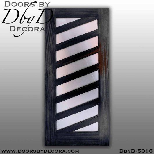 contemporary 8 panel stainless steel door