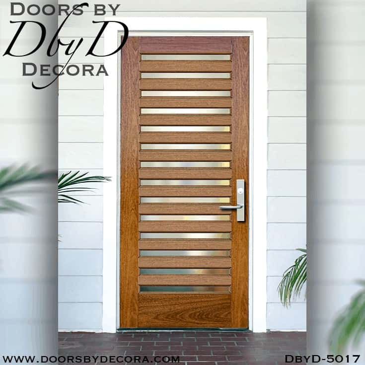 Contemporary 14 Lite Spanish Cedar Wood Front Door Dbyd 5017