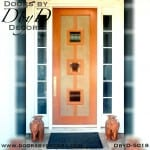 contemporary 2 lite wood door