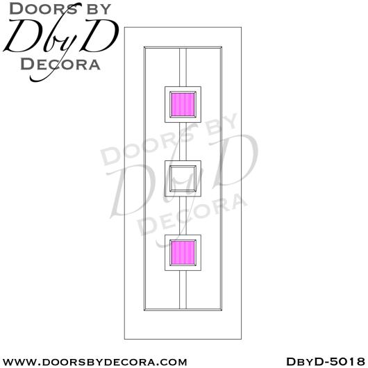 contemporary 2 lite wood door