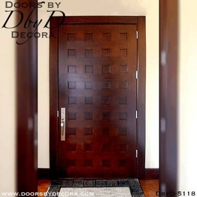 contemporary 36 panel cherry door