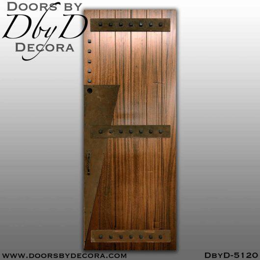 contemporary art deco plank door