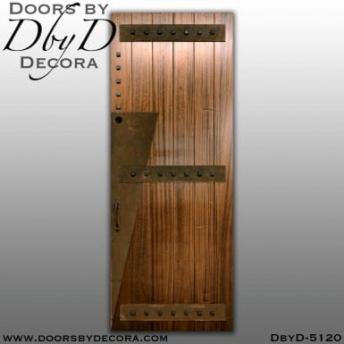 contemporary art deco plank door