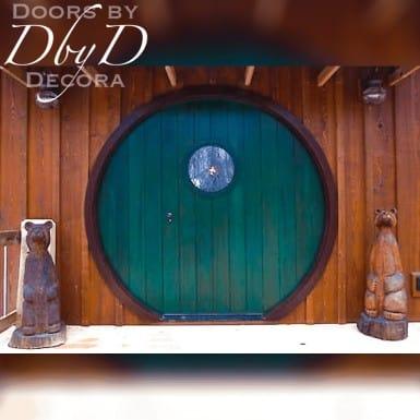 """Doors by Decora designed and built this door to mimic a door described in """"The Hobbit""""."""