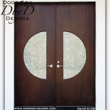 contemporary round lite door