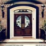 contemporary round lite door with transom