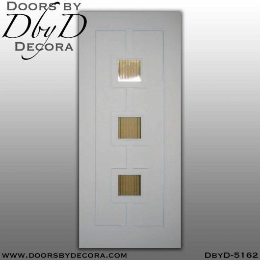 contemporary 3-lite door