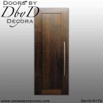 contemporary 1-panel solid wood door