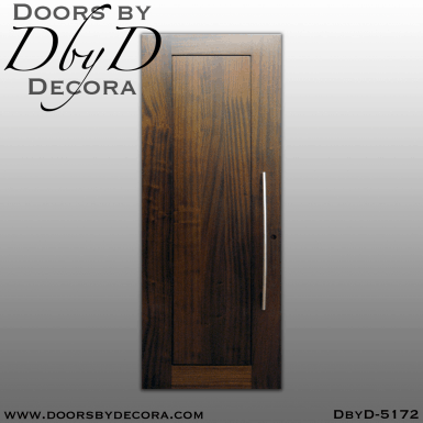 contemporary 1-panel solid wood door