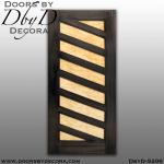 contemporary wood panel door
