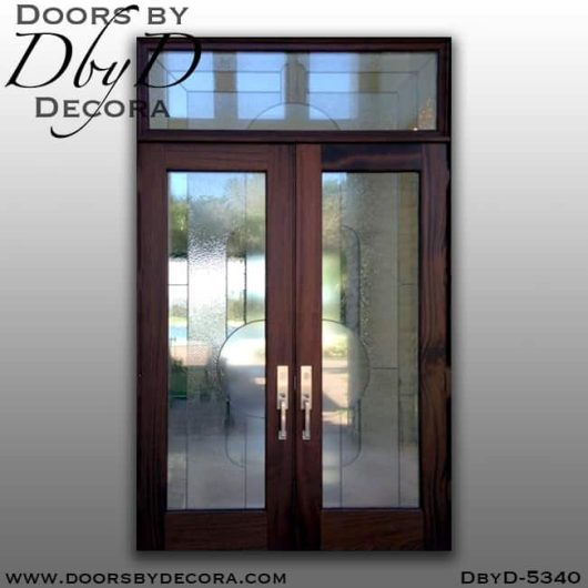 contemporary leaded glass front doors