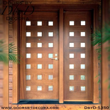 contemporary 21-lite wood door