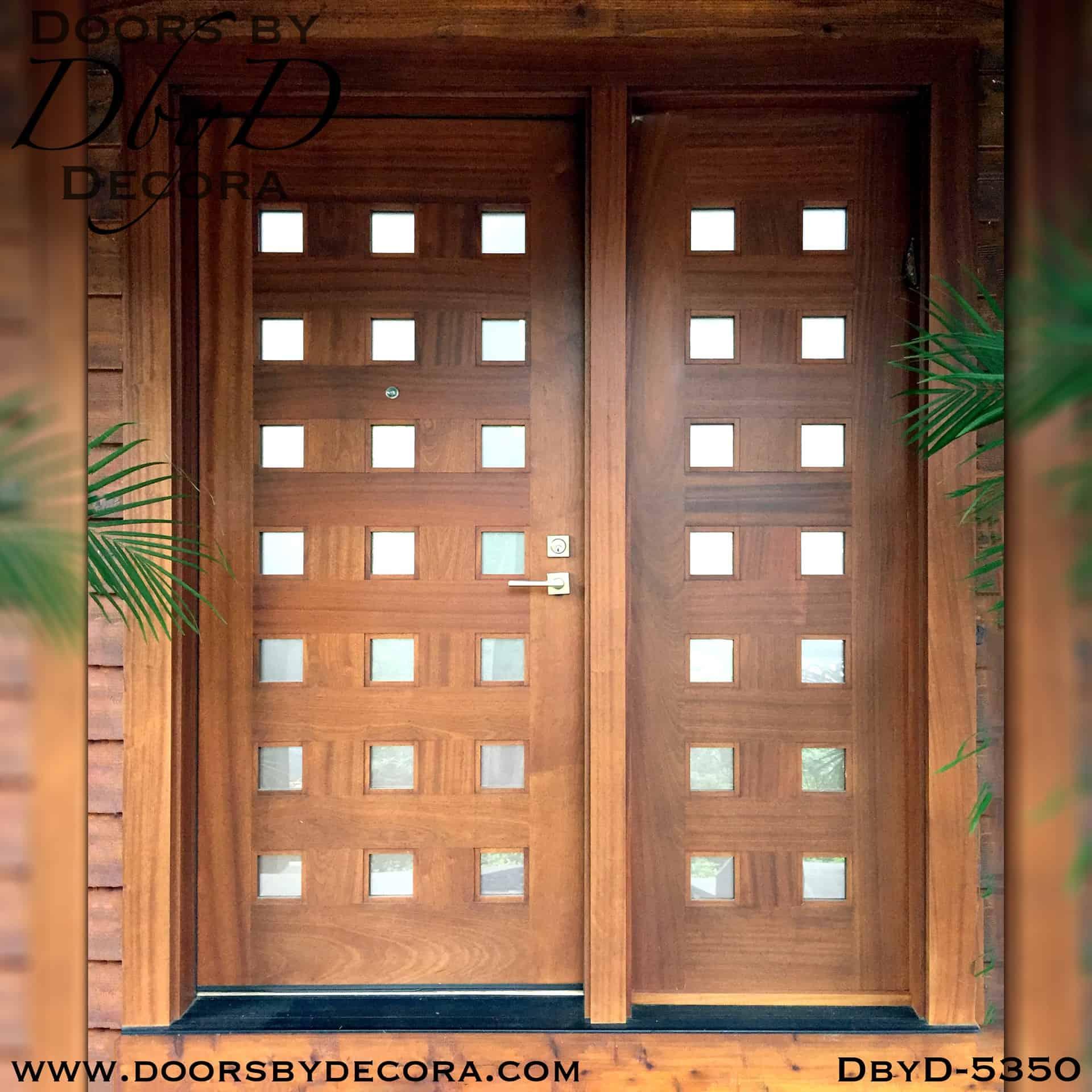contemporary 21-lite wood door