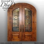 contemporary elliptical double doors