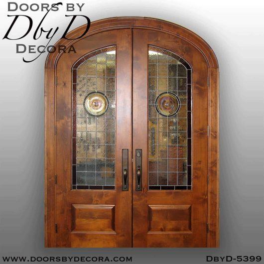 contemporary elliptical double doors